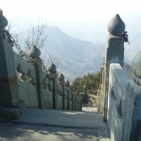 Padlocks on top of Wudang Mountain